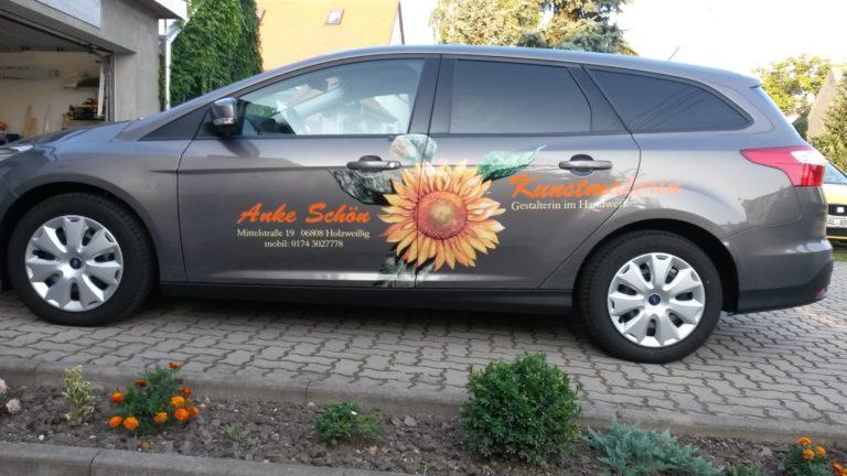 Auto-Werbung